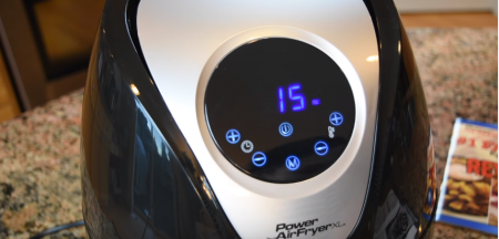 power air fryer timer