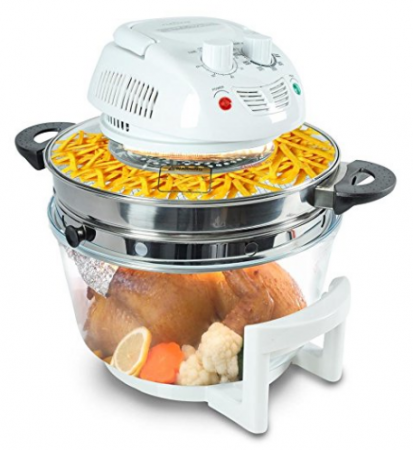 Nutrichef halogen cooking convection oven air-fryer