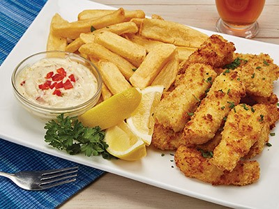 fish and chips at the same time
